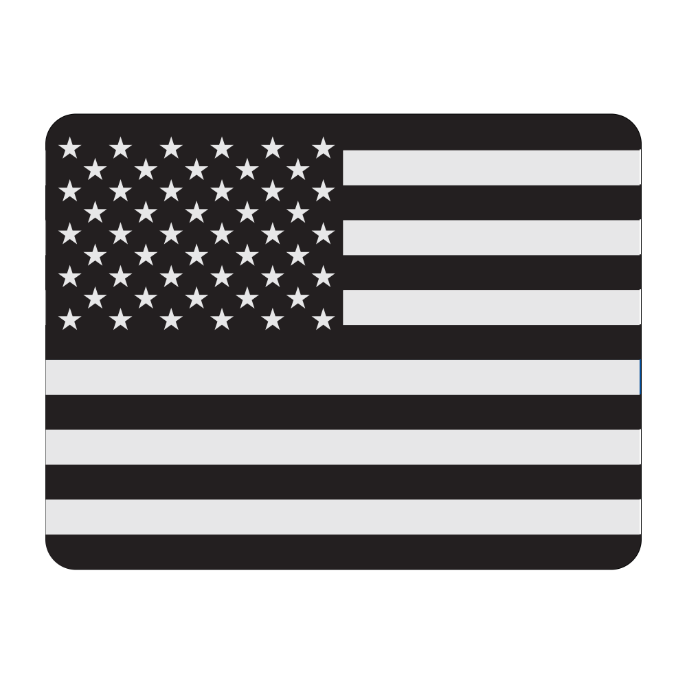 Roof Vinyl Wrap - USA Black and Silver Flag