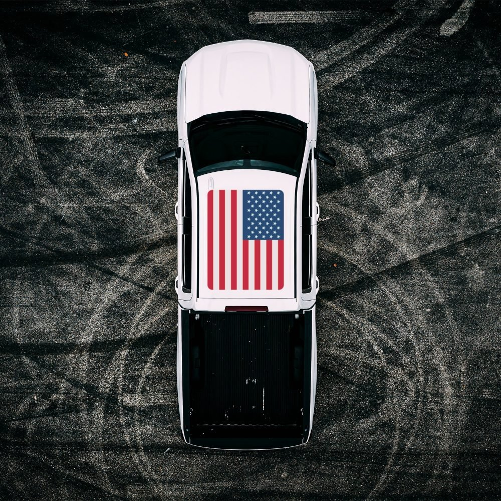 Roof Vinyl Wrap - USA Flag