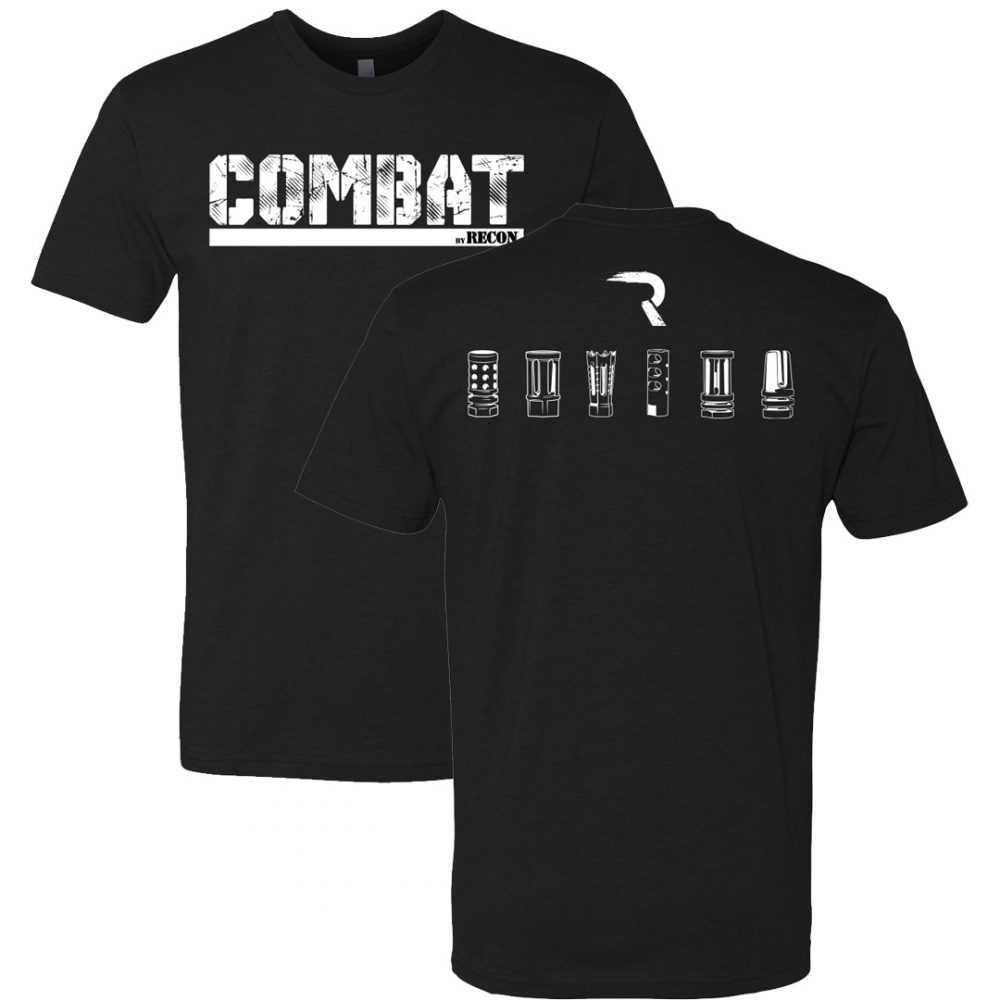 COMBAT By RECON Flash Hiders Black T-Shirt