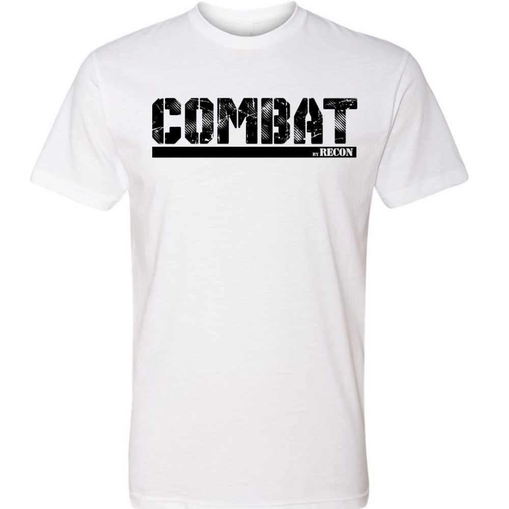COMBAT By RECON Flash Hiders White T-Shirt
