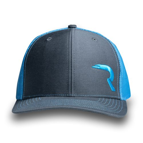 "RECON ""R"" Trucker Snapback Hat - Gray/Teal"