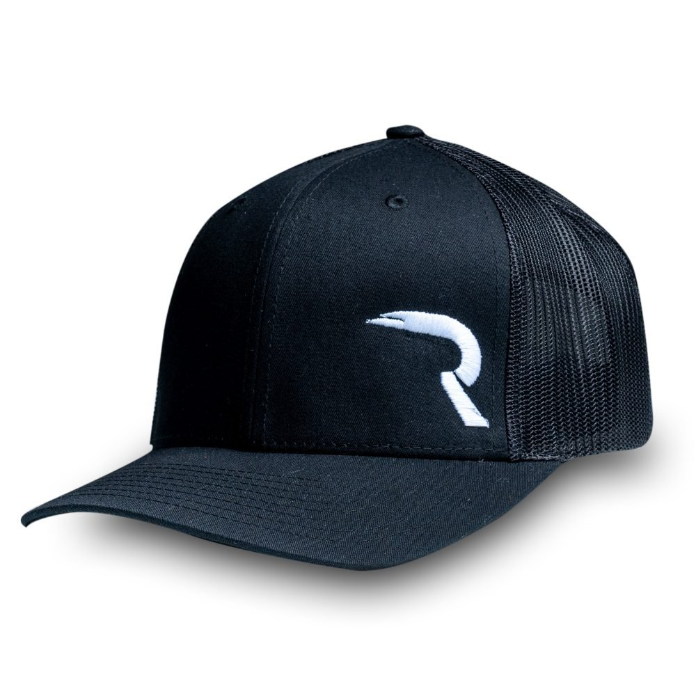 "RECON ""R"" Trucker Snapback Hat - Black"