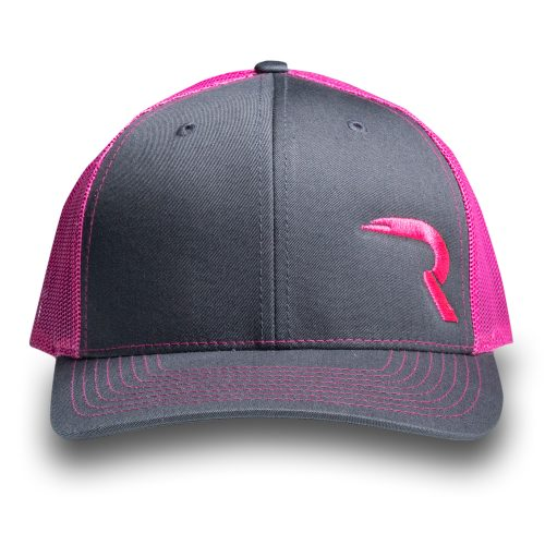 "RECON ""R"" Trucker Snapback Hat - Grey/Pink"