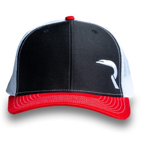 "RECON ""R"" Trucker Snapback Hat - Black/Red/White"