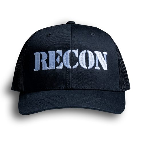 RECON Snapback Trucker Hat - Black
