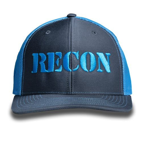 RECON Snapback Trucker Hat - Grey/Teal