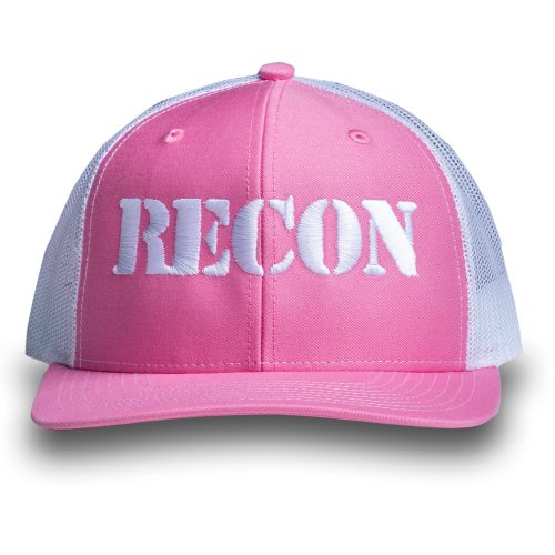 RECON Snapback Trucker Hat - Pink/White