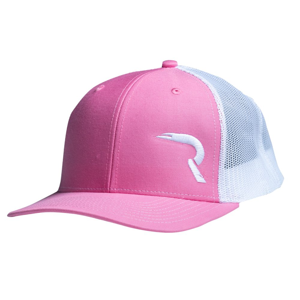 "RECON ""R"" Snapback Hat – Pink / White"