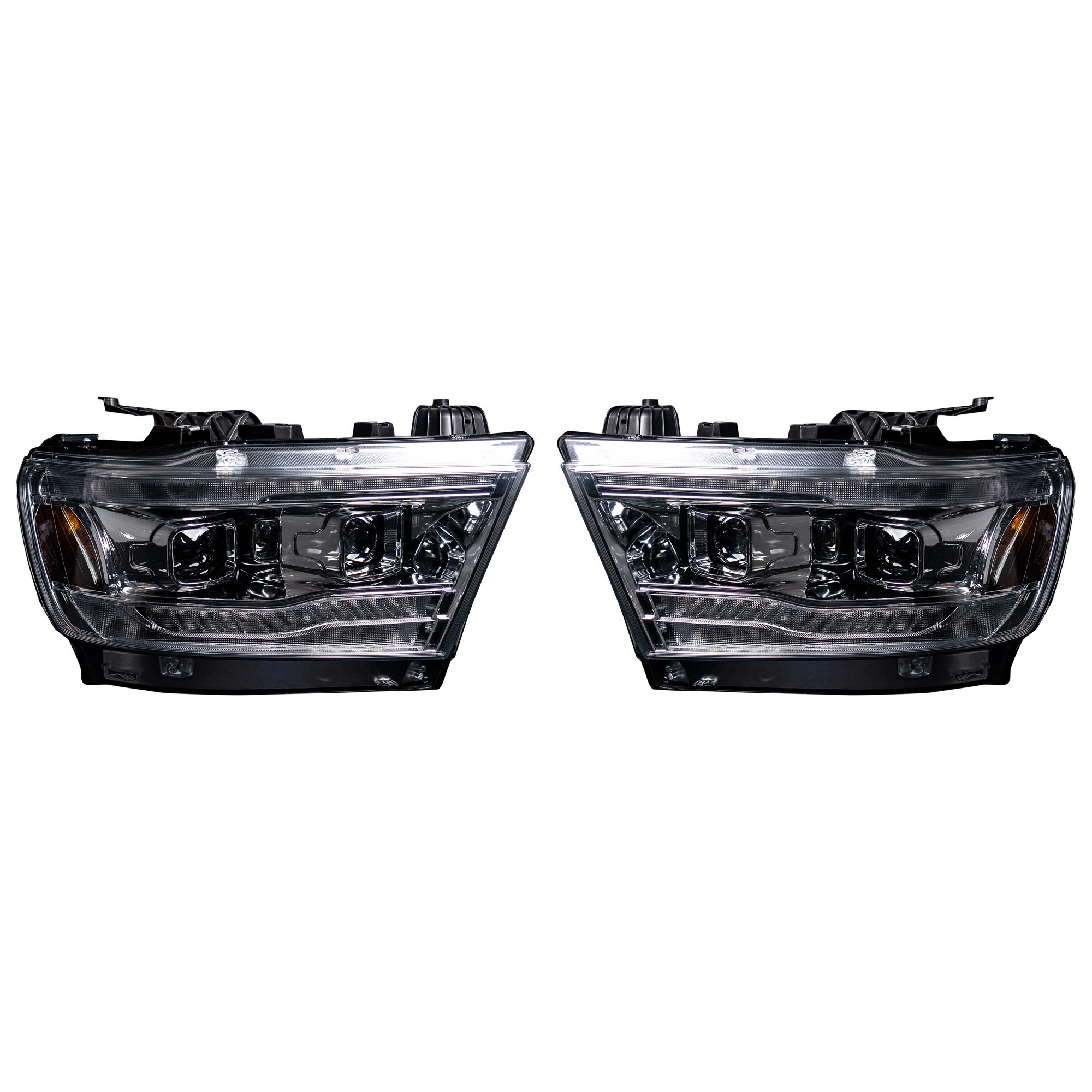 Dodge Ram 1500 19 20 5th Gen Led Hi Low Beam Projector Headlights Oled Drl Scanning Switchback Led Signals Clear Recon Truck Accessories